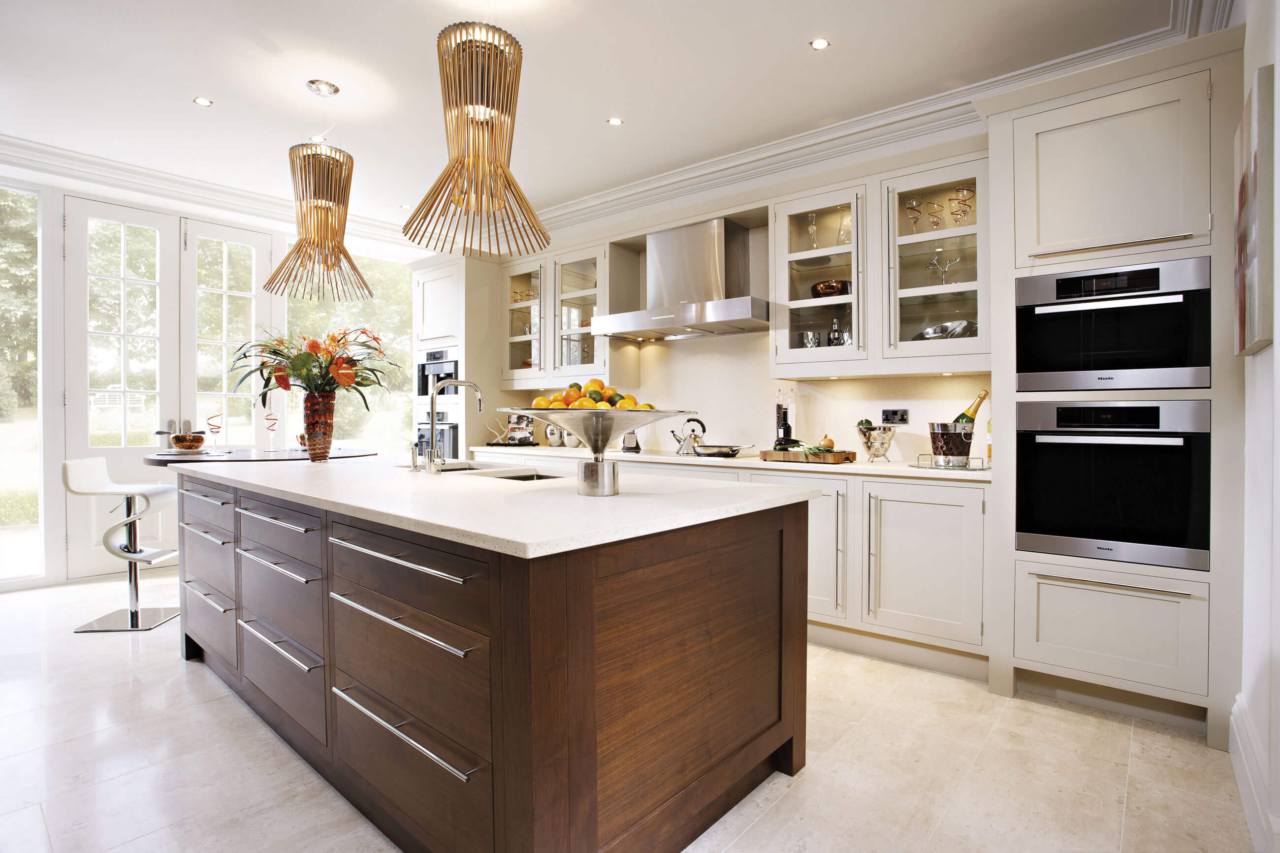 Walnut kitchen tom howley for Luxury contemporary kitchens