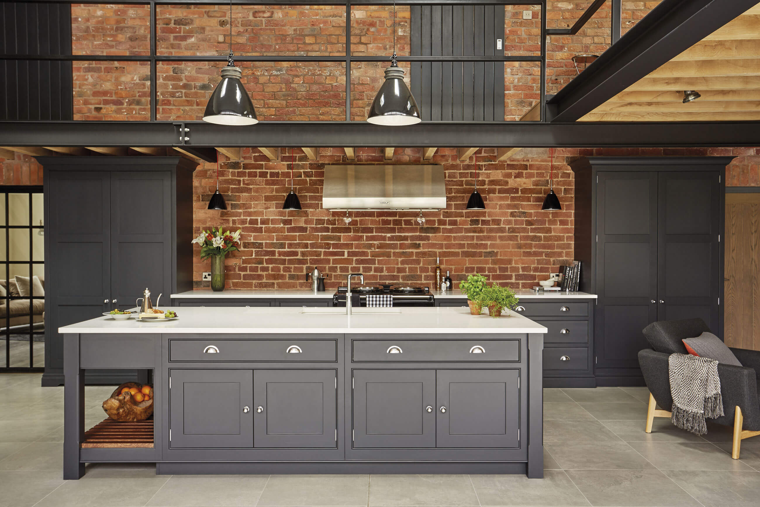 Industrial style kitchen home design for Industrial style kitchen uk