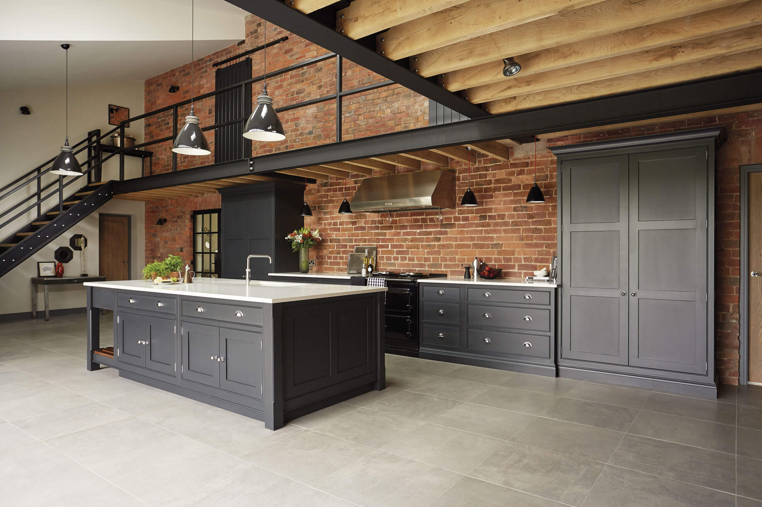 industrial style kitchen tom howley. Black Bedroom Furniture Sets. Home Design Ideas