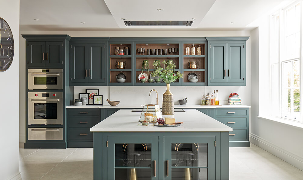 Dark Green Kitchen Storage