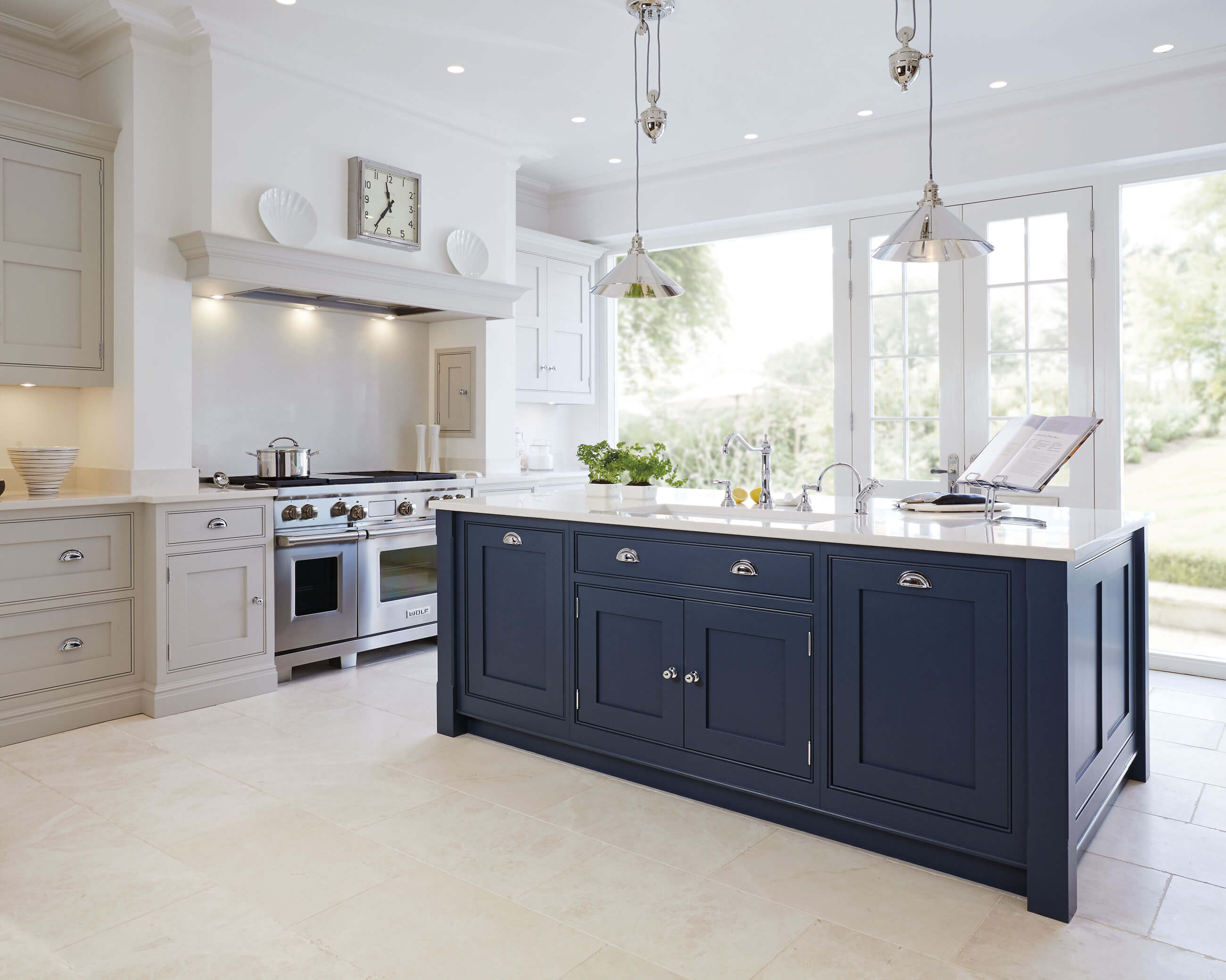 Hand Painted Kitchen Design Ideas ~ Blue painted kitchen tom howley