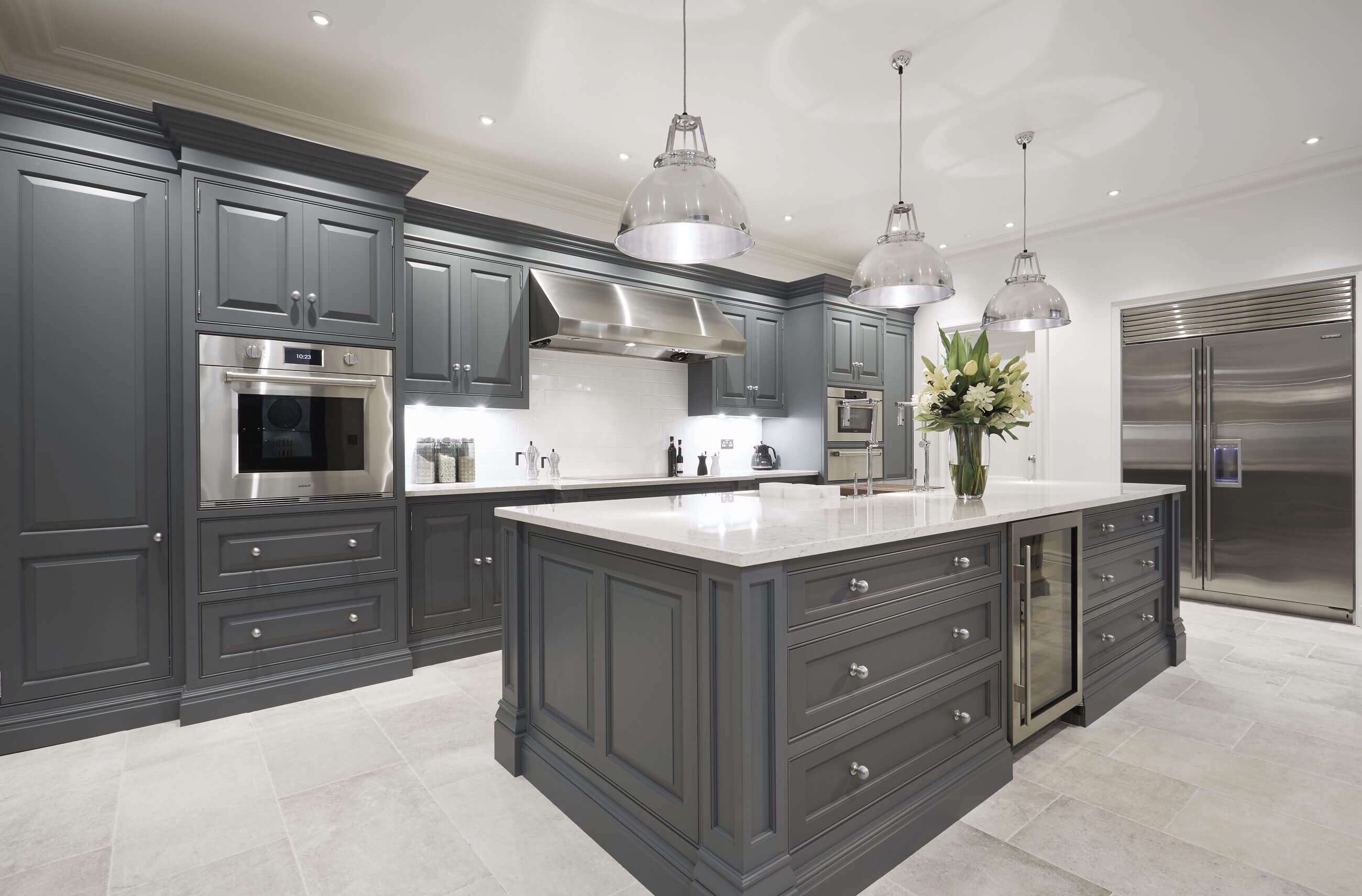 designer kitchen image luxury grey kitchen tom howley 448