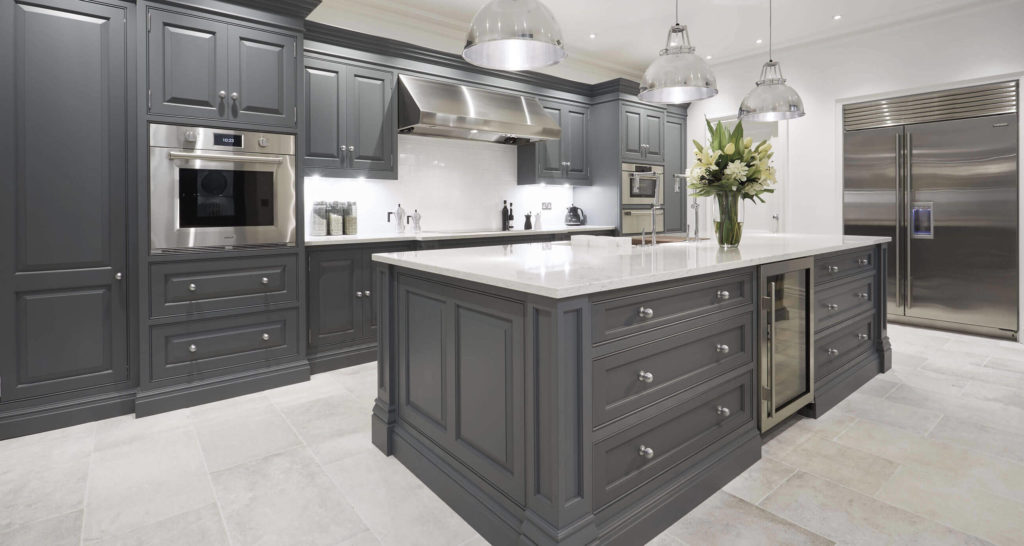 Gray Kitchen White Appliances