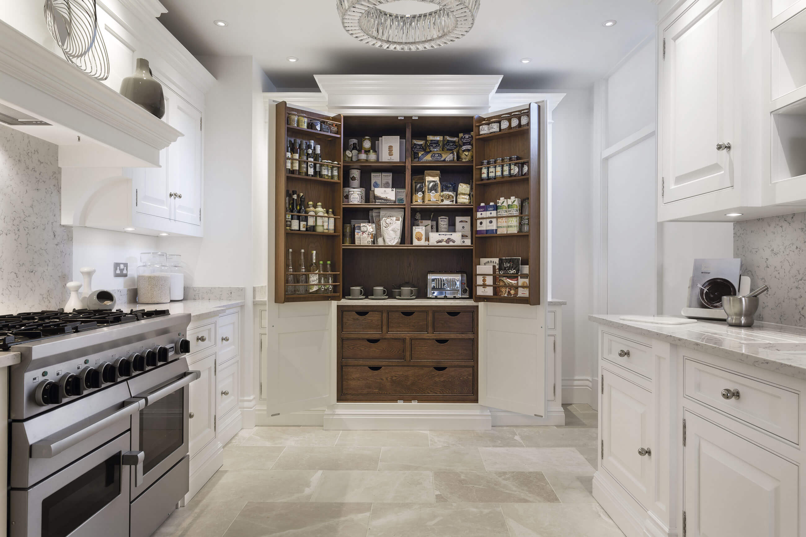 Kitchen With Pantry Cabinet