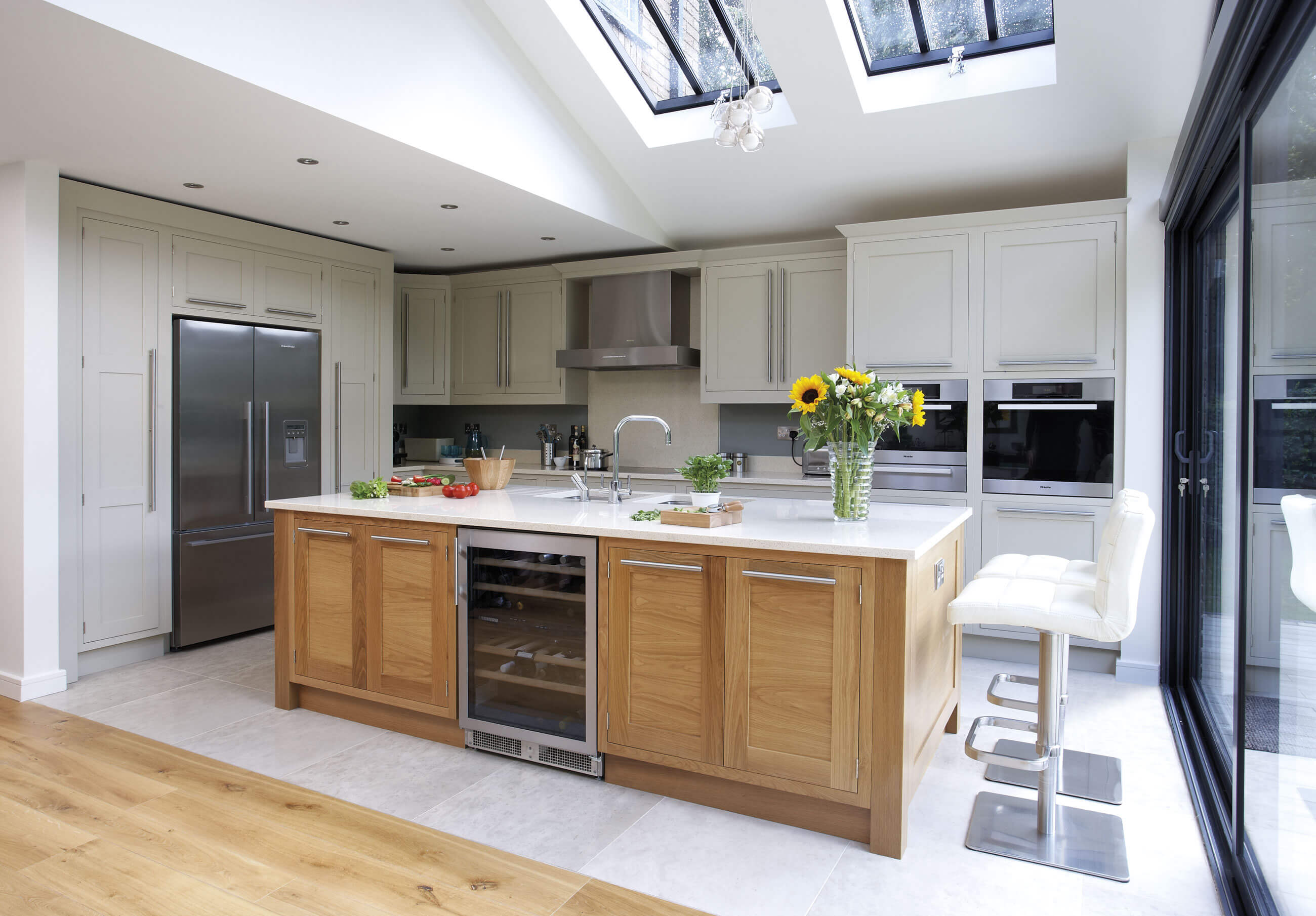 Cream And Oak Kitchen