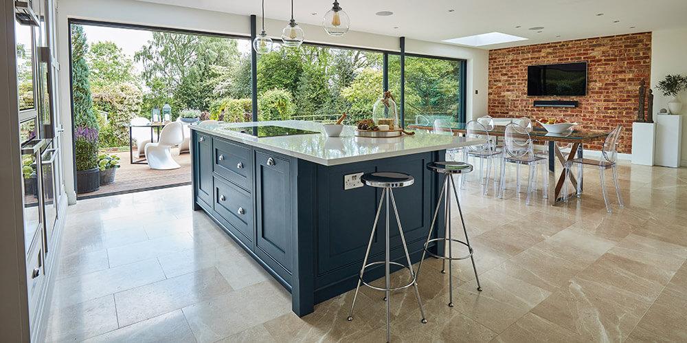 Blue Instagram Kitchen