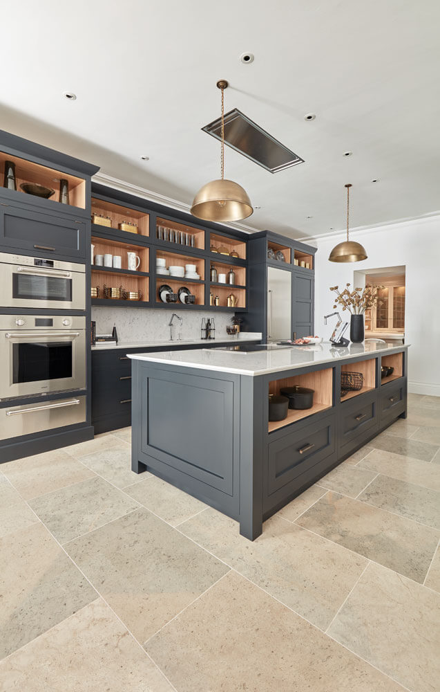 Dark Grey Shaker Style Kitchen Tom Howley