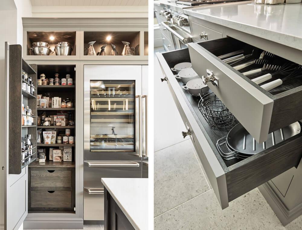 bespoke kitchen butler drawers