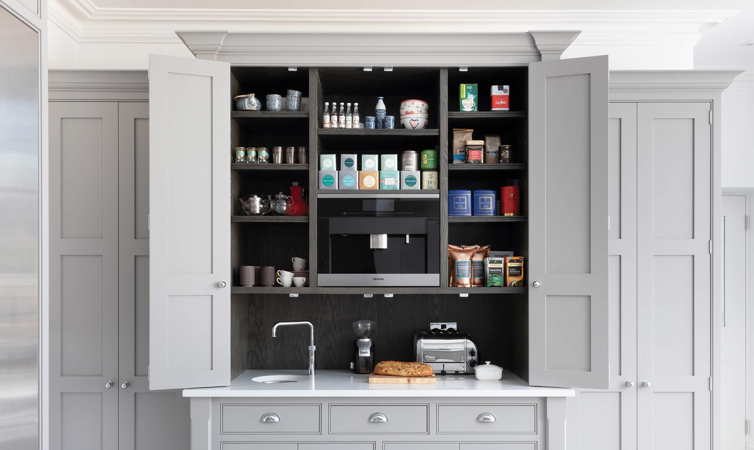 a look inside the breakfast pantry