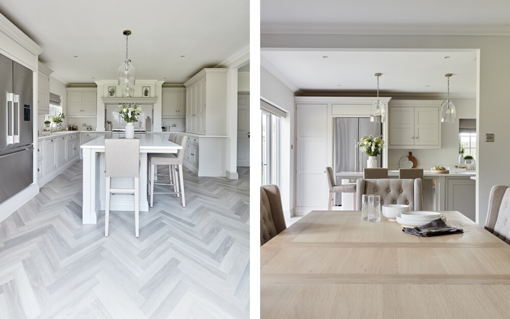 Tom Howley shaker kitchen design with central island.