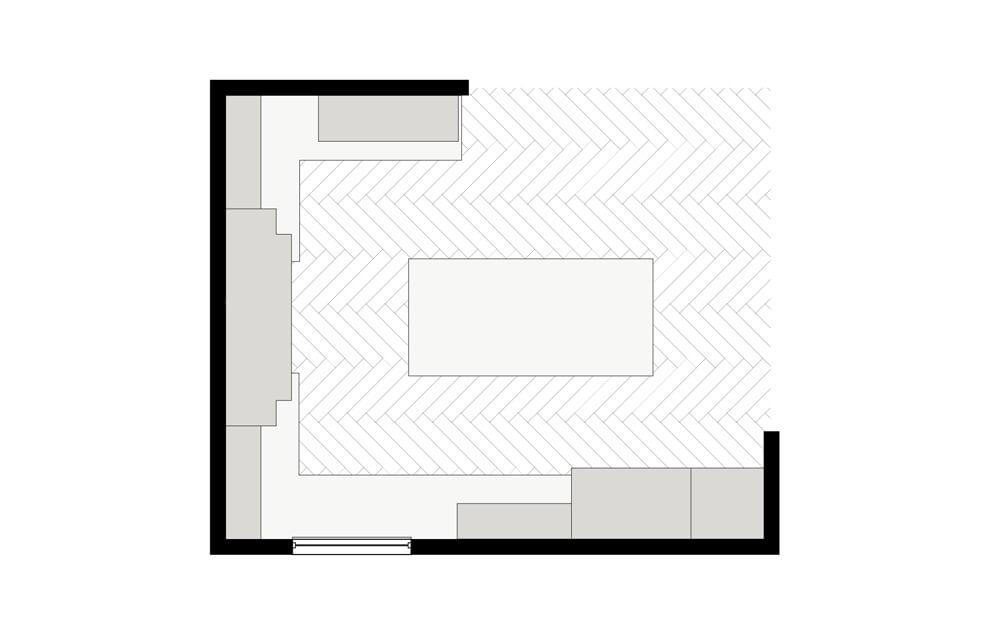 Family kitchen layout.