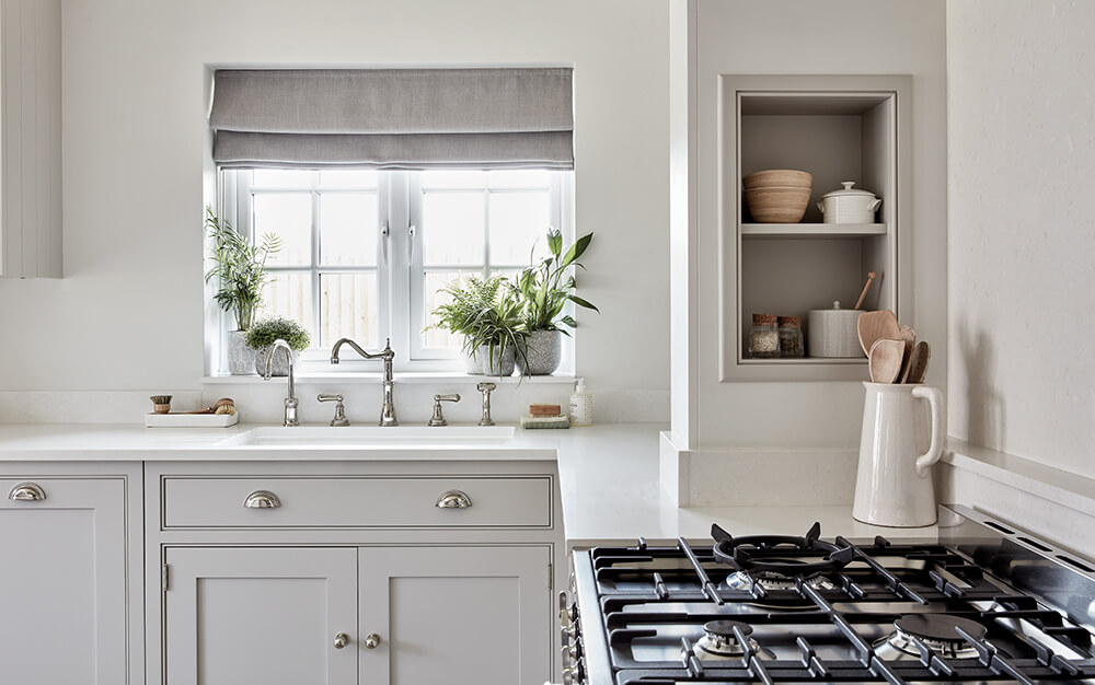 Classic country-style kitchen details.