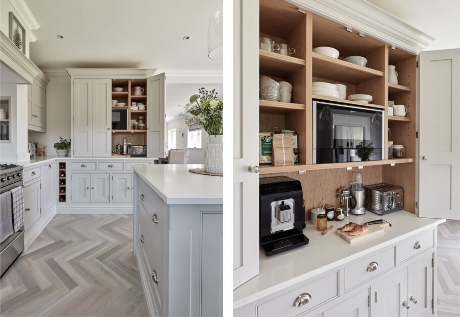 Classic country-style kitchen breakfast pantry.