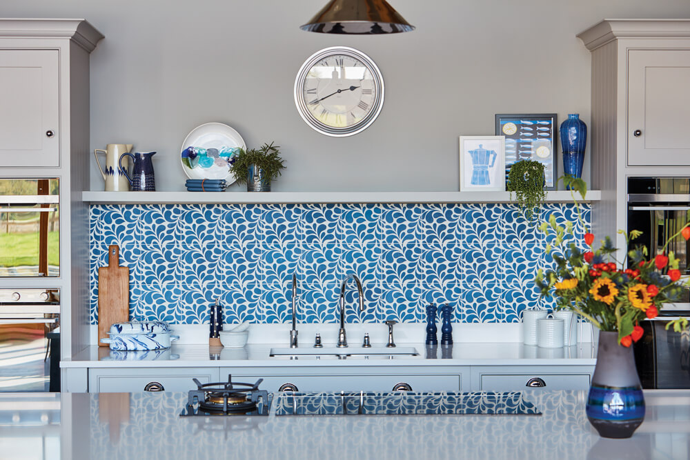 Blue Fitted Contemporary Kitchen Design