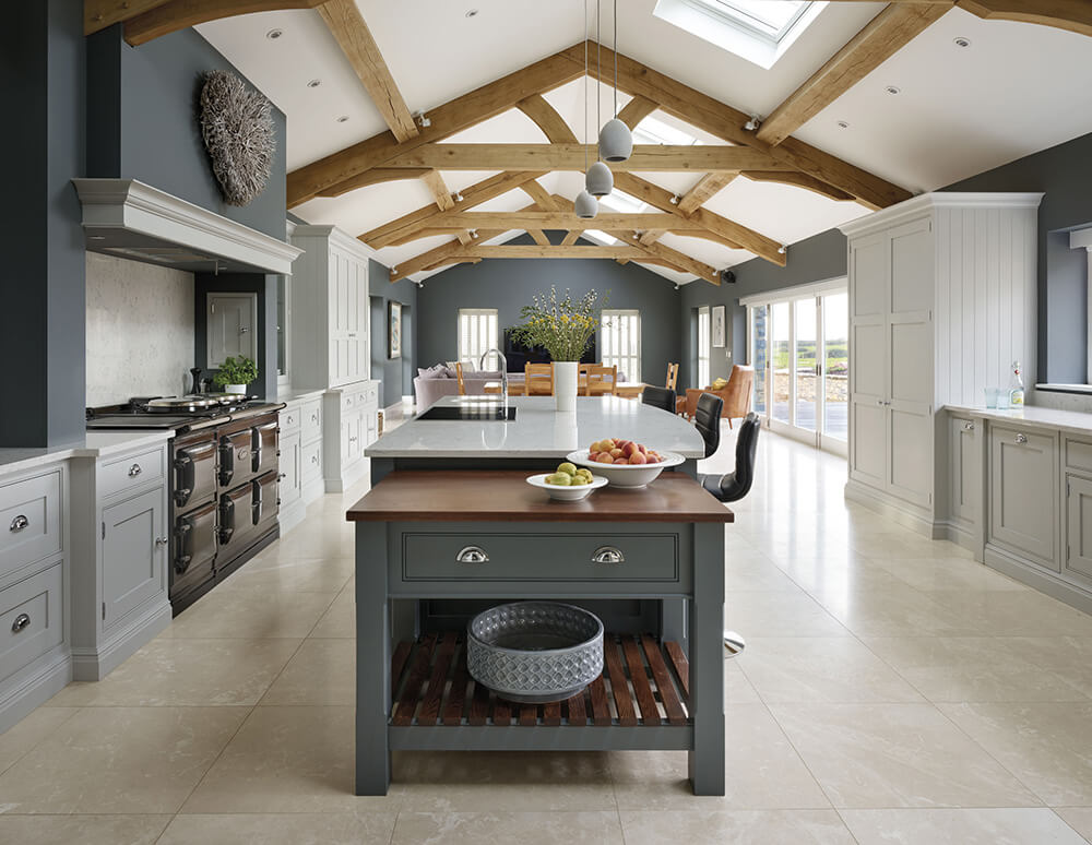 Spacious Grey Kitchen