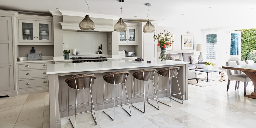 Open Plan Grey Kitchen