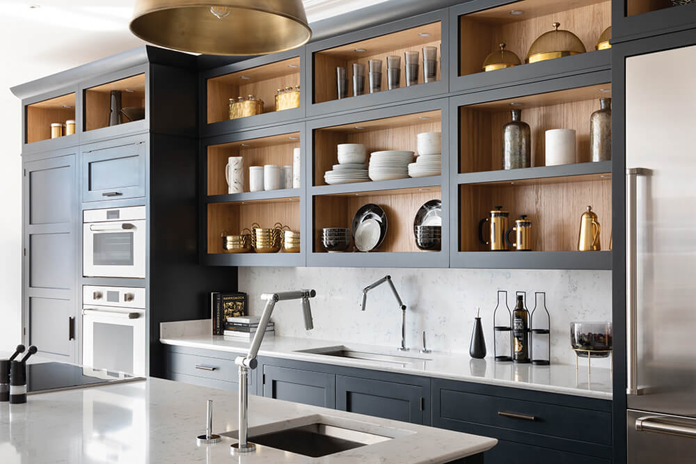 Dark Grey Kitchen Storage