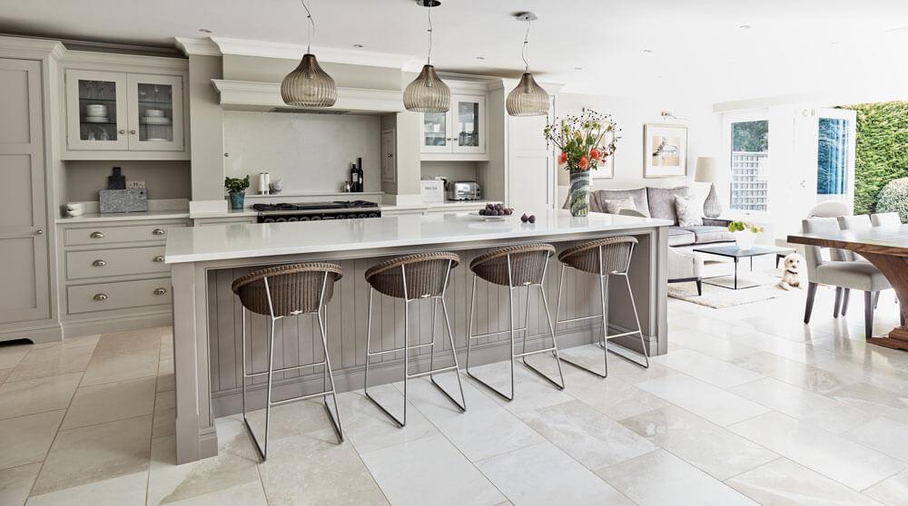 Open Plan Grey Kitchen