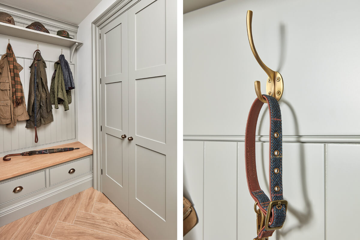 Tom Howley bootility room and boot room hook details.