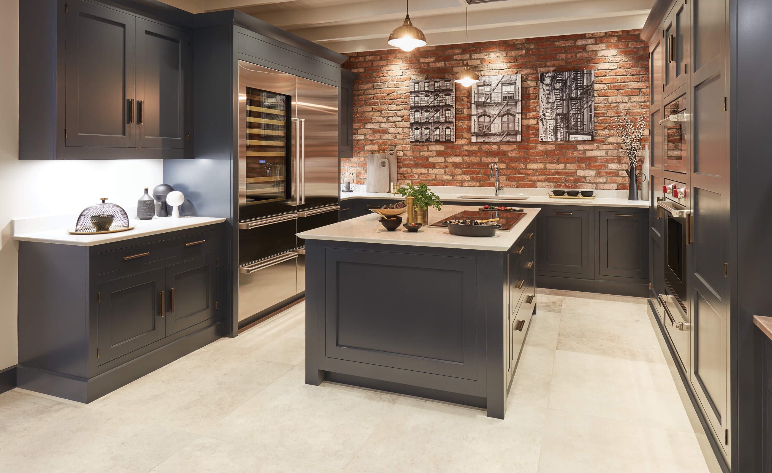 Miraculous Exposed Brick Kitchen Tom Howley Home Remodeling Inspirations Genioncuboardxyz